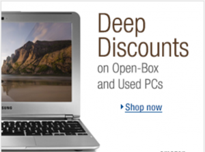 Big Discounts on Open Box and Used PCs
